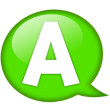 speech-balloon-green-a-icon
